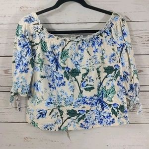 Lucky Brand XS Oversized Off Shoulder Top
